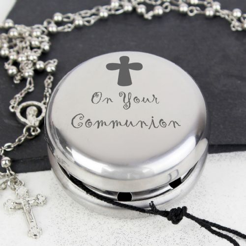 On Your Communion Silver Yoyo gift - unique gift for 1st holy communion